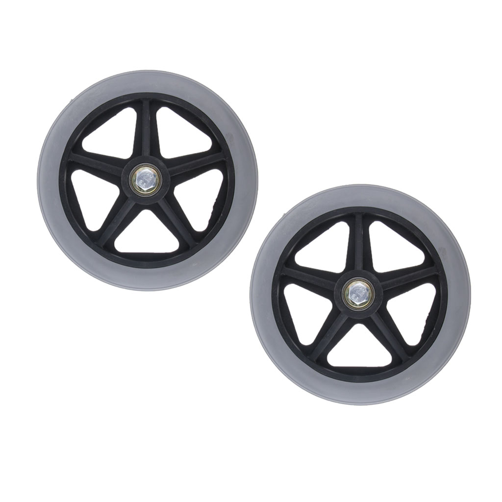 2x Professional Wheelchair Front Caster Replacement Part Tool 6 Inch Wheel 5/16 Inch Bearing