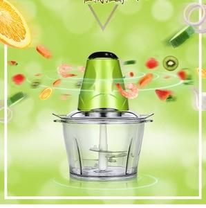 Image 5 - Meat Grinder Chopper Electric Automatic Mincing Machine High quality Household Grinder Food Processor Blender 2L