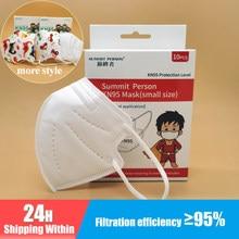 Masque KN95 5 couches pour enfants, mignon, anti-poussière, filtre FFP2 pour garçons et filles, respirateur CE, voiture dinosaure, 2021