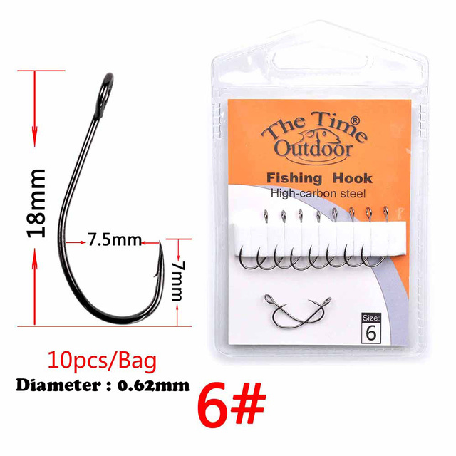 3bags big eys single Barbless hook high carbon steel with Barbed fishing hooks tackle for Sea Bass Perch zander crappie fishhook