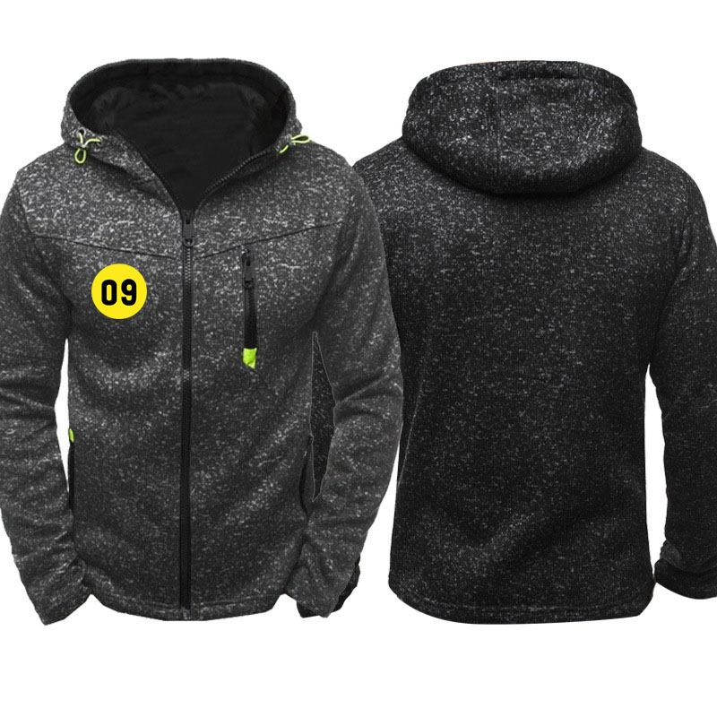09 Jacket Men Hoodies Custom Logo Print Mens streetwear Fleece Zipper Sweatshirts Male Tracksuit