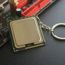 เลเซอร์แกะสลักที่กำหนดเอง1366 CPU พวงกุญแจ Key Chain รูปแบบ DIY Creative จี้สำหรับวิทยาศาสตร์ Geek เครื่องประดับของขวัญ