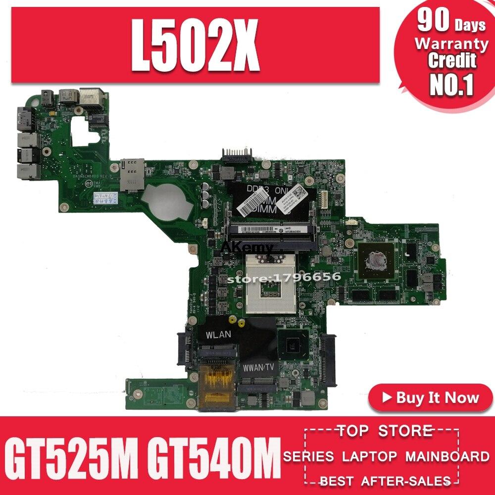 C47NF 0C47NF CN-0C47NF материнская плата для For DELL XPS L502X материнская плата для ноутбука GT525M GT540M DAGM6CMB8D0 тестовая работа 100% оригинал