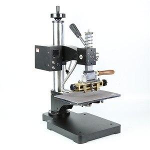 Image 1 - Máquina de estampación TF1135 rcidas, color bronce/Máquina de plegado de cuero, máquina de estampación en caliente, relieve de cuero 220V pedido mínimo 5set
