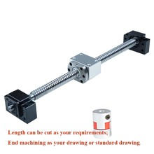CNC ball screw nut 20mm SFU2005 screw 1600mmBKBF15 end machining + ball screw nut 2005 + supporter + coupling цена 2017