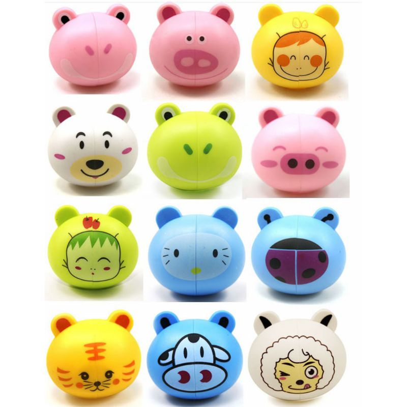 Kids Kids Cute Cartoon Animal Head Shaped Toothbrush Holder Cover Two Suction Cup Colored Wall Mounted Bathroom Accessories image