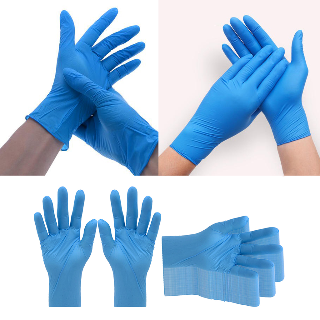 50pcs Disposable Gloves 100pcs Household Cleaning Washing Gloves Nitrile Laboratory Nail Art Medical Tattoo Anti-Static Gloves