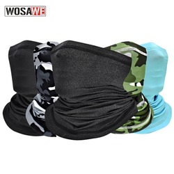 Wosawe Summer Cycling Bandana Scarf Breathable Elastic Running Fishing Scarf Face Cover Coverings Outdoor Sport Neck Warmer