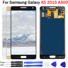 100% Tested Working For Samsung Galaxy A5 2015 lcd display A500 A500F A500FU A500M A500Y A500FQ Display LCD Touch Screen Display цена и фото
