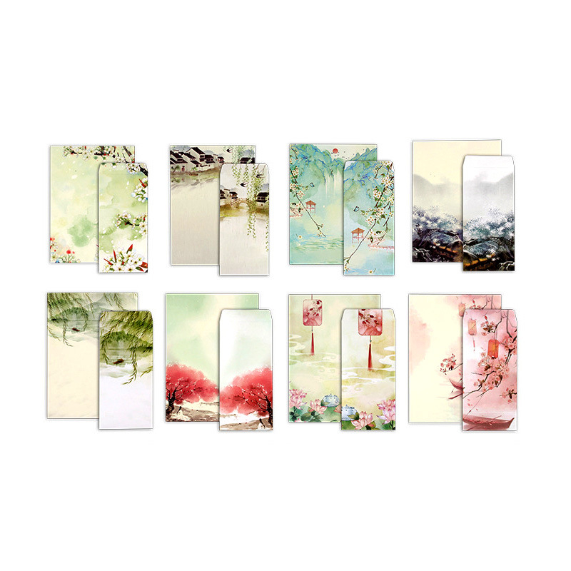 Traditional Letter Paper Of Chinese Style  Elegant Classical Letter Paper Set