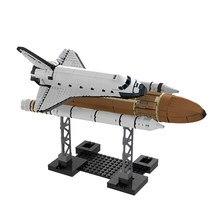 Moc conjunto kits de construo tijolos blocos 16014 shuttle espao expedio compatvel tcnica crianas brinquedos 10231