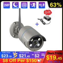 Techage cámara inalámbrica de seguridad con Wifi cámara IP de 2MP y 5MP, Audio bidireccional, vídeo CCTV IA, para exteriores, visión nocturna a todo Color, tarjeta TF P2P
