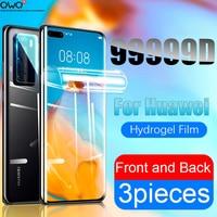 Protector de pantalla para Huawei P10 P20 P40 P30 Pro Lite cubierta completa de la película de hidrogel suave Mate 40 10 30 20 Lite Pro P Smart Nova 5t accesorios del teléfono móvil protectores de pantalla