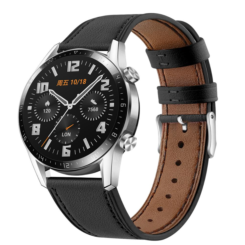 22mm Active Bracelet For HUAWEI GT2 High Quality Genuine Leather Bracelet Belt For Samsung Galaxy Watch