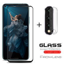 2-in-1 Camera Protector for honor 20 Protective glass For huawei honor 20 YAL-L21 YAL-L41 Safety Glas On honor20 6.26'' Len Film yal l41 yal l21 honor 20 pro fashion magnetic business case for huawei honor 20 pro artificial leather wallet flip stand cover
