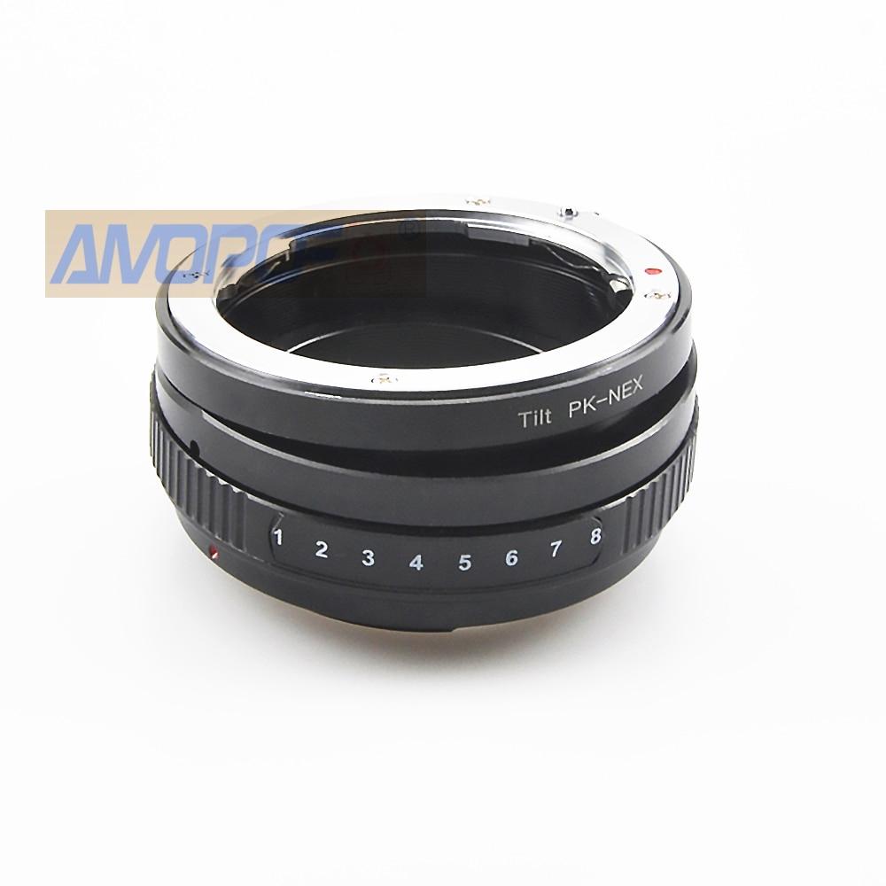 PK-NEX Tilt Adapter for Pentax P//K Lens to Sony E A5100 A6000 A3000 5T 3 5N VG10