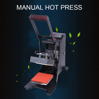 Thermal transfer hot machine small heat press machine clothes collar printing machine equipment manual pressing machine