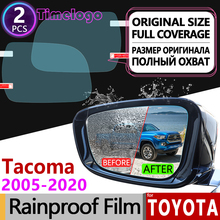 For Toyota Tacoma 2005 - 2020 TRD Full Cover Anti Fog Film Rearview Mirror Rainproof Anti-Fog Films Accessories 2014 2015 2016