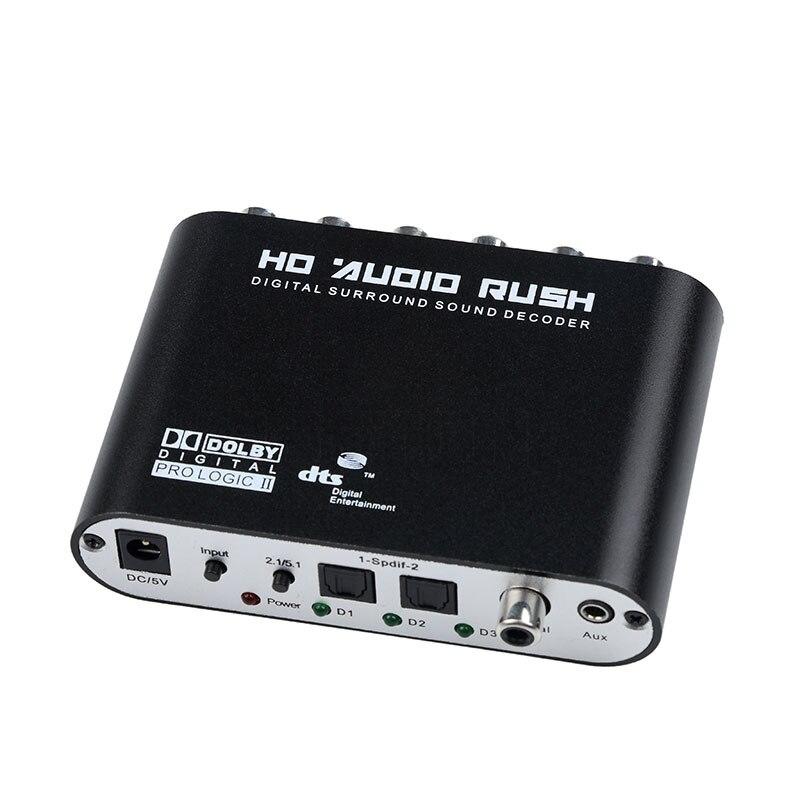 Цифровой 5,1 EU аудио декодер SPDIF коаксиальный к RCA DTS AC3 оптический цифровой на 5,1 аналоговый преобразователь усилителя