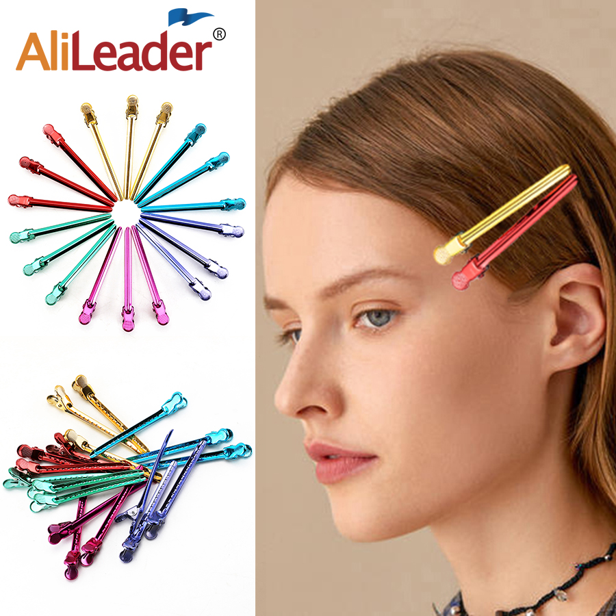 Alileader 12Pcs Stainless Steel Metal Crocodile Hairpins 6Colors Hairdressing Diy Durable Hair Clips Styling Tools