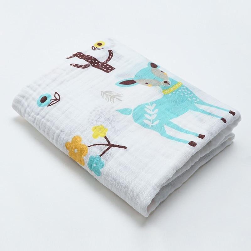 Muslin Cotton Baby Swaddles Soft Newborn Blankets Bath Gauze Infant Wrap Sleepsack Stroller Cover Play Mat Baby Deken | Happy Baby Mama