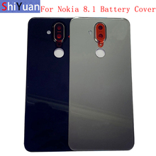 Original Back Battery Cover Rear Door Panel Housing Case For Nokia 8.1 X7 Battery Cover with Camera Lens Logo Replacement Part