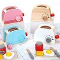 子供木製プレイふりセットシミュレーショントースターパンメーカーコーヒーマシンキットゲーム木ミキサーキッチン役割玩具キッズギフト
