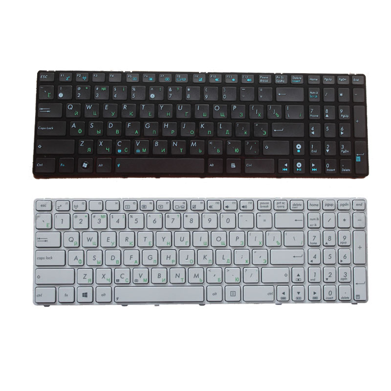 Russian Keyboard For Asus K53SV G73Sw G73Jw K52D K52DR K52DY K52JK K52JR K52JT K52JU K52JV K53SC White/black RU Laptop Keyboard