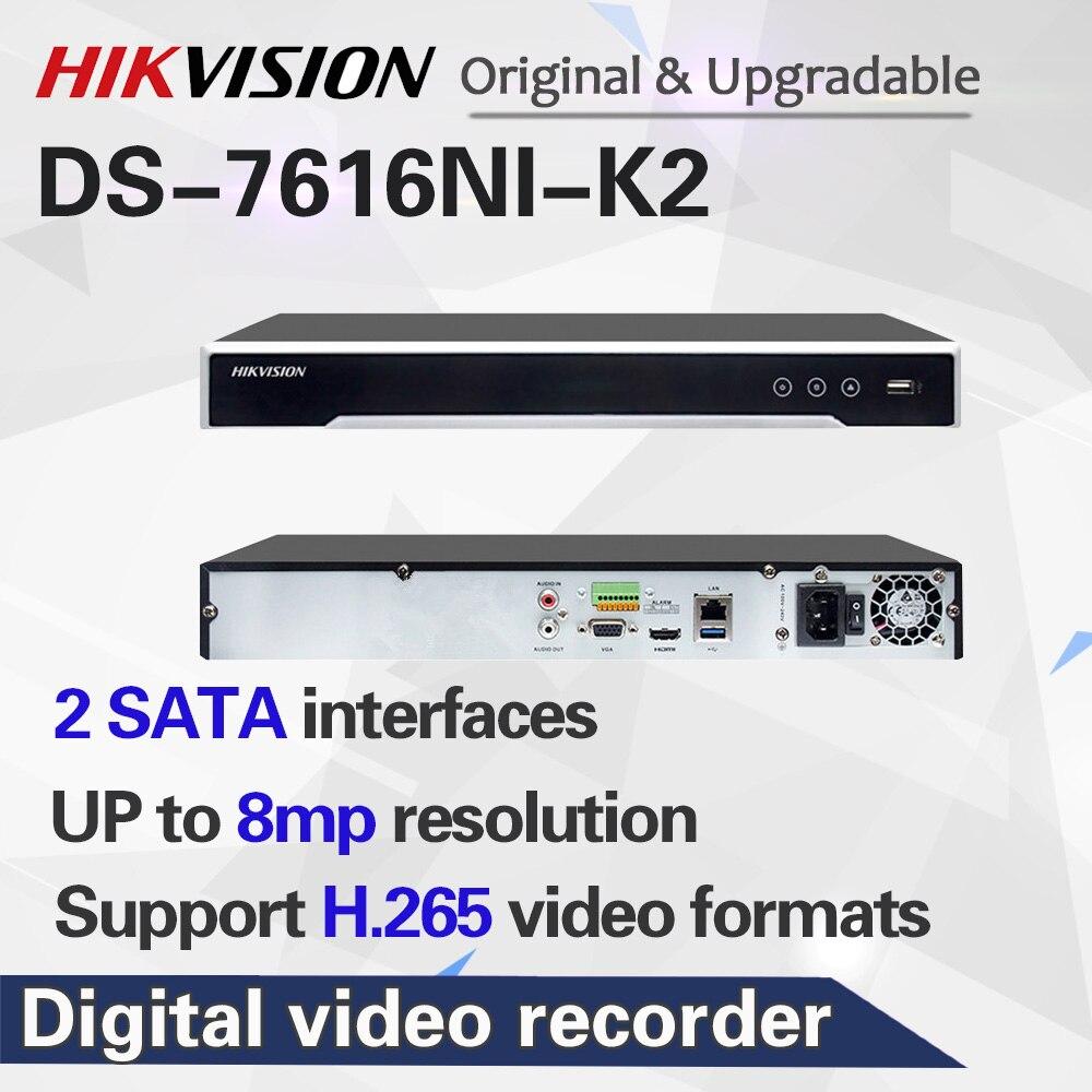 HIKVISION aktualisierbar 4K H.265 NVR 8CH 16CH DS-7616NI-K2 Bis zu 8MP aufzeichnen Netzwerk video recorder