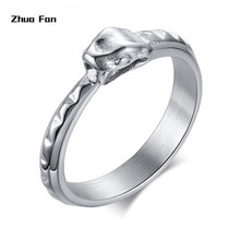 original design Punk Stainless Steel Ouroboros Snake Ring Mens silver color Serpent Statement Biker Rings Jewelry