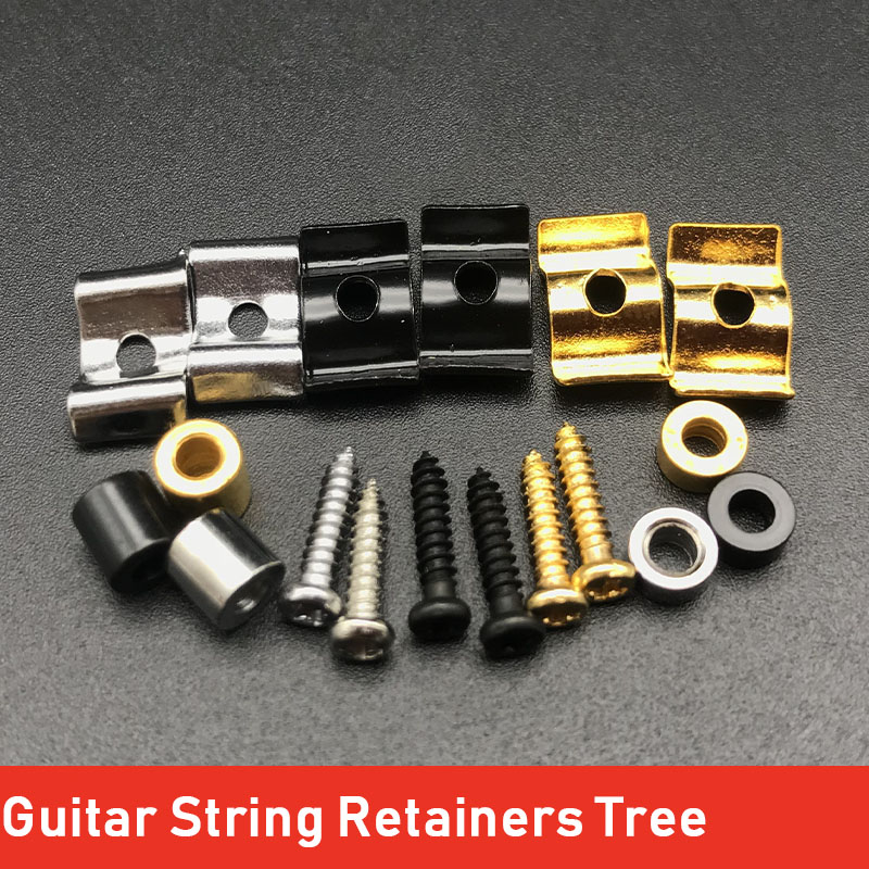 1Set Electric Guitar String Retainers Tree For ST TL Electric Guitar Chrome Black Gold Electric Guitarra Accessories