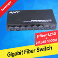 Faser Optische schalter 8 SC 2 1000M RJ45 Industrie Grade Gigabit Ethernet Switch media Converter|Glasfaser-Ausrüstungen|   -