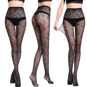 Image 4 - Hollow Out Sexy Pantyhose Mesh Stockings Jeans Stretch Bottoming Stocking Fishnet Stockings Tights High Quality Female Pantyhose