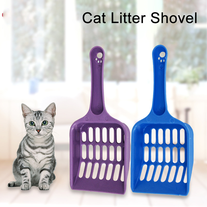 Dog Cat Litter Shovel Plastic Scoop Pet Toilet Cat Sand Cleaning Tool Plastic Scoop For Dog Food Spoons Cat Supplies Pet Product
