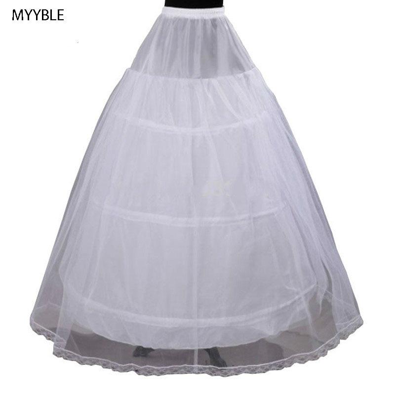 MYYBLE 2020Cheap Price Hot Sale 2 Layer 3 Hoop Elastic Waist Bridal Gown Drawstring Dress Petticoat Underskirt Crinoline Wedding
