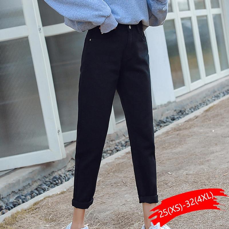 Woman White   Jeans   Cotton High Waist Skinny   Jeans   Woman Plus Size Mom   Jeans   Black 2019 Spring New Beige Blue Harem Pants