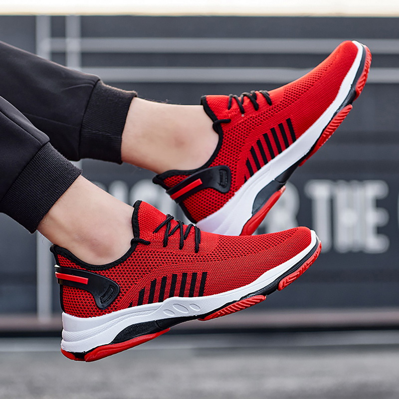 New Fashion Man's Sneakers Lace Up Vulcanize Running Male Shoes Breathable Comfor Mesh Shallow Flats Casual Boy's Shoes