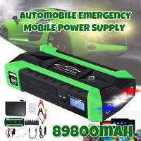 Car Jump Starter Power Bank 600A 12V LCD Display Portable Battery Booster Charger Starting Device with LED Lights|Jump Starter| |  -