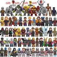 60 Pz/lotto Super Heroes Building Blocks Legoed Marvel Avengers Capitano 4 Vespa Spiderman Iron Man Figure Hulk Thanos Endgame Giocattoli