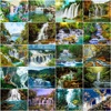 HUACAN Painting By Number Waterfall Landscape Drawing On Canvas HandPainted Gift Picture By Number Scenery Kits Home Decoration