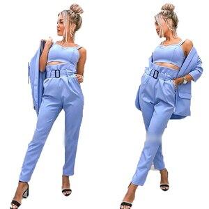 Image 5 - TAOVK Women Suits Female Pant Suits Office Lady Formal Business Set Uniform Work Wear Blazers Camis Tops and Pant 3 Pieces Set