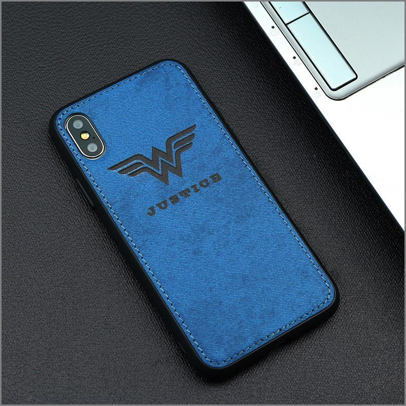 Wonder Woman Fabric Phone Case For Iphone 7 8 6 6s Plus X Xs Max Xr DC Universe Cloth Soft Cover Canvas Silicon Coque in Fitted Cases from Cellphones Telecommunications