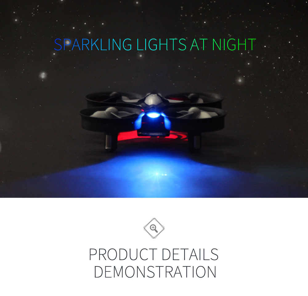 Sparkling drone lights at night for kids