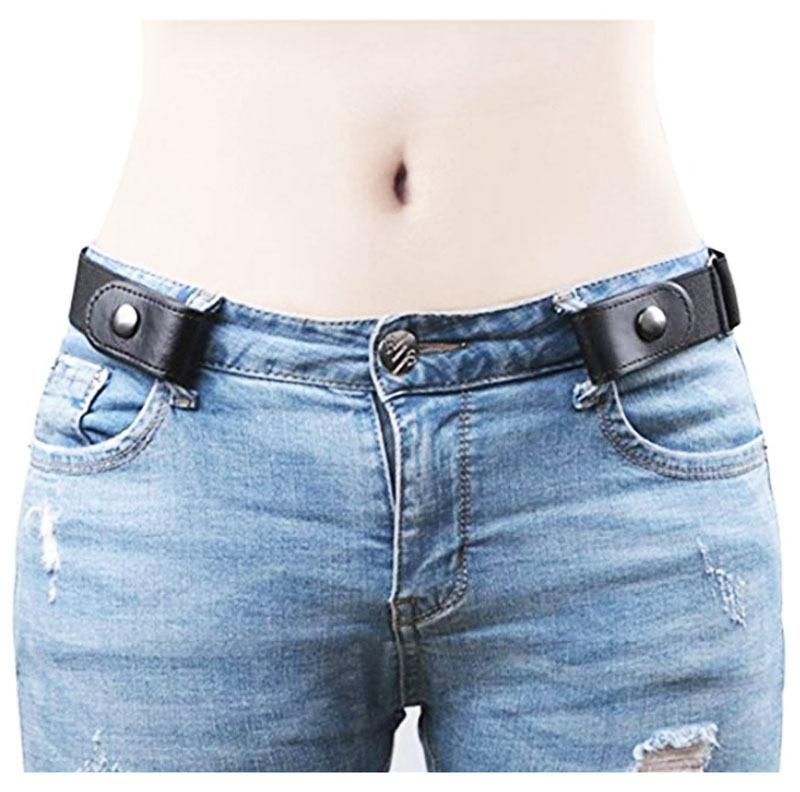 Women/Men No Bulge No Hassle Waist Belt Adjustable Belts For Jean Pants Dresses No Buckle Stretch Elastic Invisible Waist Belt