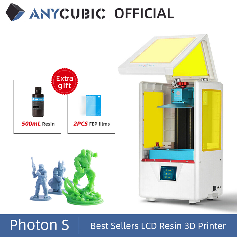 ANYCUBIC Photon-S 3D Printer Dual Z axis Quick Slice 405nm Matrix UV Module SLA 3d Printer Resin Photon S Upgraded Impresora 3d