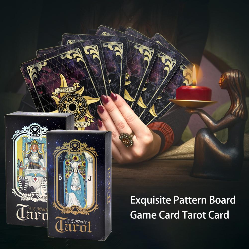 78 Sheets / Set All English Exquisite Pattern Board Game Card Tarot Card For Family Party Card