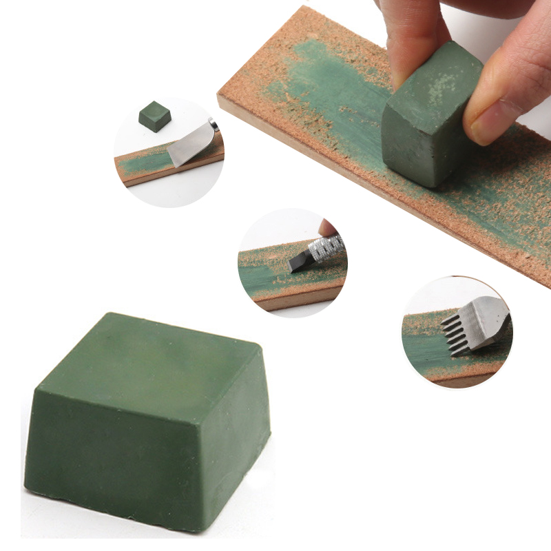 1Pcs Polishing Paste Green Fine Abrasive Polishing Paste Buffing Compound Metal Blade Grinding Use