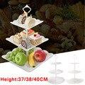 Новинка  трехслойная тарелка для фруктов  подставка для пирожных  десертная стойка для хранения овощей  держатель  тарелка для свадебного т...
