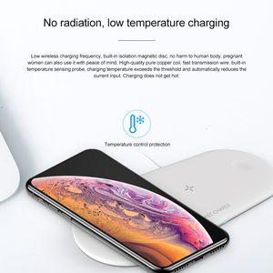 Image 3 - 3 in 1 Qi Wireless Charger Pad for iPhone 11 pro X XS Max XR for Apple Watch 4 3 2 for Airpods 10W Fast Charge For Samsung S10