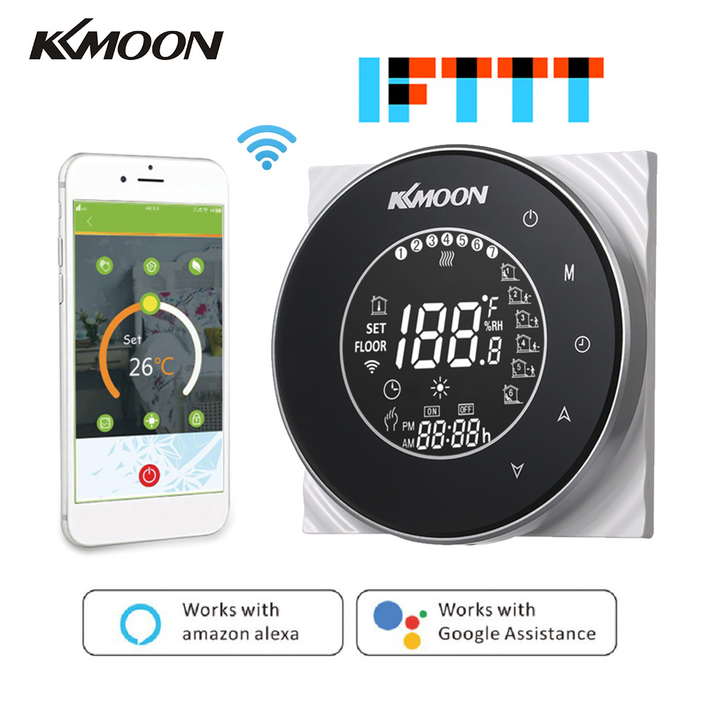 Professional Smart Digital Water/Gas Boiler Heating Thermostat Regulator WIFI Voice Control Room APP Temperature Controller